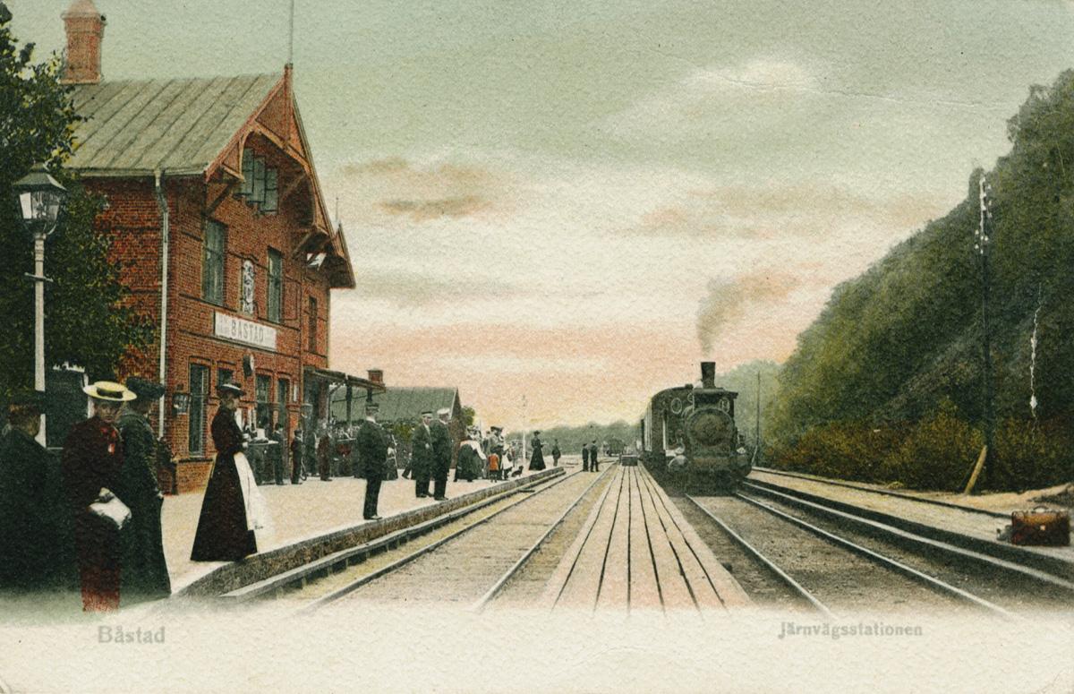 Bastad Station Karta.Jarnvagen Bastad Malen