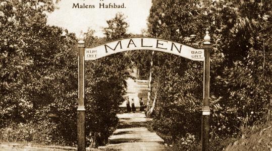 Nya vägen till Malens Hafsbad