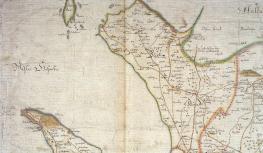 Bjäre Härad. Utsnitt ur Anton Ciöpingers karta 1716